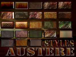 Austere Photoshop Layer Styles by manoluv