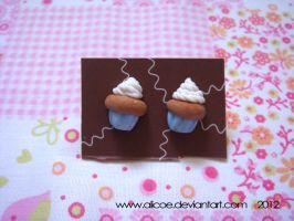 Cupcake Earring Blue by alicoe