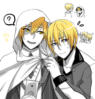 Kise-wanko and Manba-kun by EccentricRaven