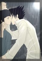 SasuHina - A kiss in the rain by JaneDoe01