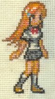 XStitch Fan Art- Orihime by missy-tannenbaum