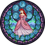 Stained Glass: Ariel by Akili-Amethyst