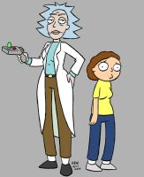 Rick and Morty gender swap by stinkywigfiddle