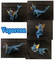 Vaporeon Sculpture: Collage by ClayPita