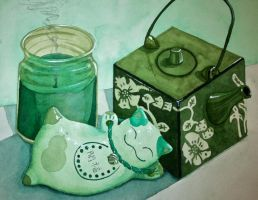 Still Life in Green by sylentsongs
