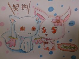 jewelpet ruby and qb by bubblemimi