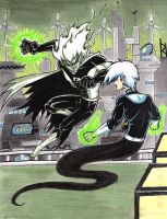 Dark Danny V Danny Phantom by slifertheskydragon