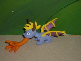 Spyro the Dragon ~ SPYRO THE DRAGON ~ Clay Figure by theclaygnorc