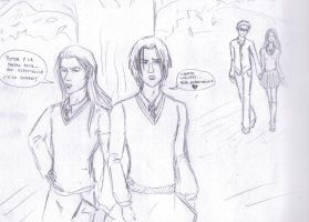 Harry Potter - Old School days -Lucious and Snape by PaulaTnT