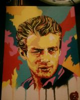 Colorful James Dean by RRocha722