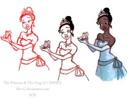 The Princess and The Frog WIP by Mrs-C