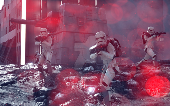 Battlefront Troopers on Sullust by JediRorschach