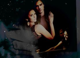Damon and Elena by jeannemoon