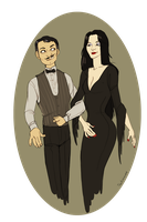 Addams family by TeaAnemone