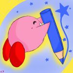 Gift : Kirby draws for you~ by Shindy-Potato