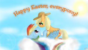 Appledash on cloud 9 - Easter version by Cavalloniere