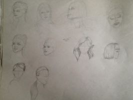 FD Day 9: 9/26/12 Head and Hair study by SeikoMiwarui