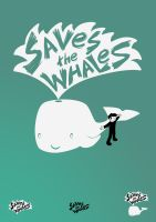 saves the whales logotype by gelerli