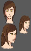 Aya Profiles (fan colouring) by Lunapocalypse