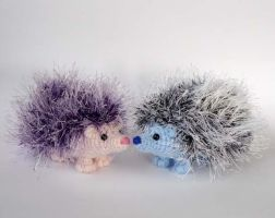 Colorful hedgehogs by LunasCrafts
