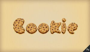 Tutorial: Cookie Text Effect by PsdChat