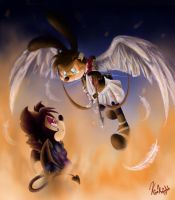 Demon Fire and Tear of Angel by KisaKnight