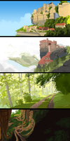 Landscapes by OrangePopFox