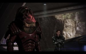 ME3 Jill Shepard and Wrex 2 by chicksaw2002