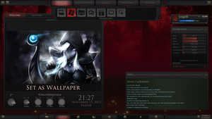 Dota 2 Game Menu for Rainmeter by yorgash