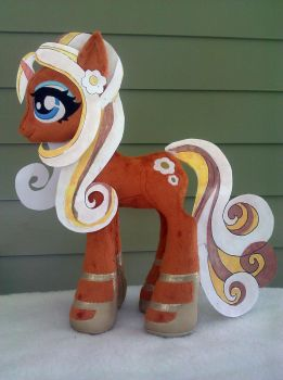 20 inch WIP Marzipan OC Plush Pony NEW PATTERN by PlushActionToys