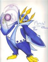 Mumble the Empoleon by Phoelion