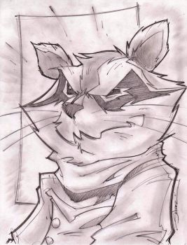 Rocket Raccoon Sketch Shot by StevenSanchez