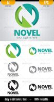 Novel -  Logo Template by doghead