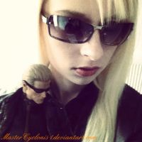 Female Wesker cosplay and Hot Toys Wesker by MasterCyclonis1
