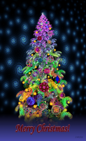 Funky Snowy Christmas Tree by 1389AD