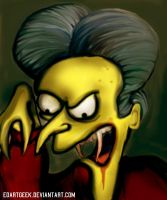Mr Burns as Dracula by EdArtGeek
