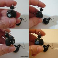 Canon 60D Camera Earrings by ChibiSilverWings