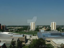 Thompson Library - view west by rapturesrevenge