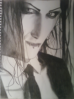 Chris Motionless Portrait by Thediamondintherough