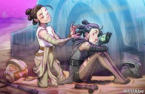 Rey and Kylie Ren by ArtistAbe