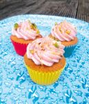 Pistachio and Rosewater Mini Cupcakes by moccacooky