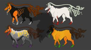 More jackowolf adoptables by ThaddeusGrey