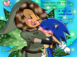 Myst and Sonic by fairy-princesssstar