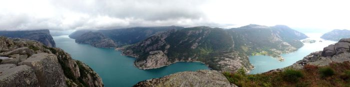 Panorama of Lysefjorden by T2norway