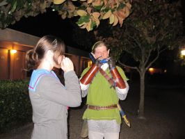 Link and Haruhi cosplayer Sing-A-Long xD by SaikouPysho