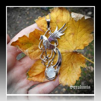 'Dreamworld' handmade sterling silver pendant by seralune