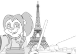 Li Li Travel Selfies Chez Paris by ColgateFIM
