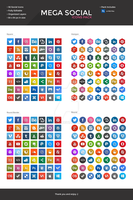 Mega Social Icon Pack - Long Shadows by slayerD1