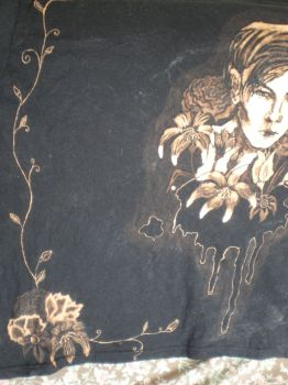 Flowers of Evil Bleach painted T shirt 4 by raewhitewolf