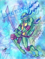 TURTLE POWER LEONARDO by 1234LERT7Nan2